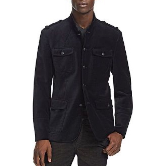 Kenneth Cole velour military jacket